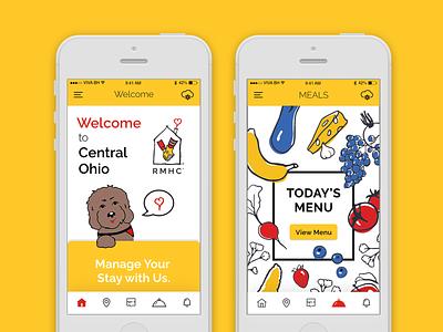 Ronald McDonald House Charities visual design fruit dog yellow mobile