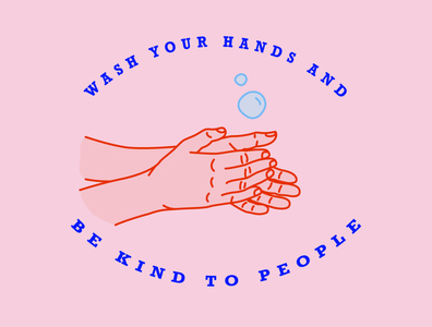 Wash your hands kind bekind bubble hands wash hands covid-19 covid design illustrator illustration