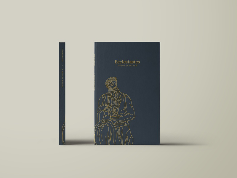Ecclesiastes - Redesign book cover book cover lineart linework bible design bible study biblical bible ecclesiastes vector design illustrator illustration
