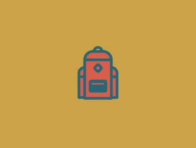 Adventure Pack 2/5 hiking camping outdoor backpack badge adventure color vector design illustrator illustration