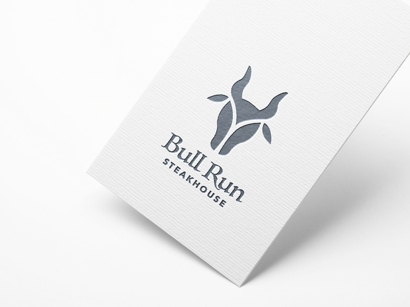 Bull Run Steakhouse restaurant branding steakhouse steak bull logo vector design illustrator illustration
