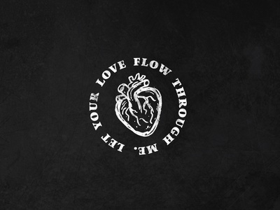Let Love Flow heart christian church merch jesus love vector design illustration illustrator
