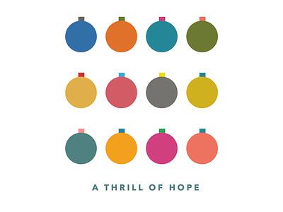 Christmas Serious christmas card thrill hope ornament christmas color vector design illustration illustrator