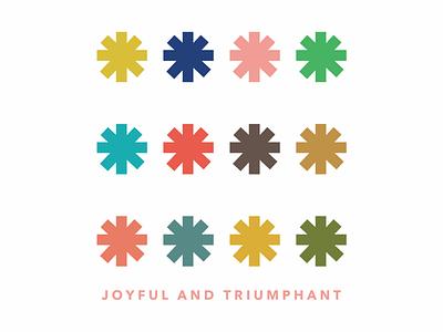 Joyful joyful snowflake snow christmas color vector design illustration illustrator