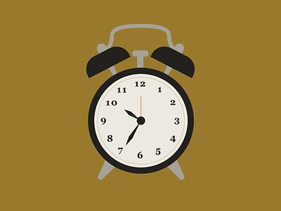 time teller alarm time clock color vector design illustration illustrator
