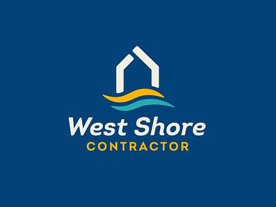 West Shore Logo contractor shoreline west construction logo color vector design illustration illustrator