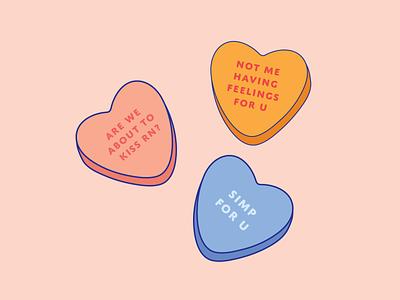 A Gen Z Valentines genz candy heart valentine color vector design illustration illustrator