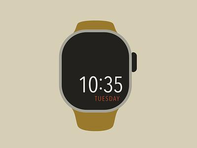 Time timer apple watch color vector design illustration illustrator