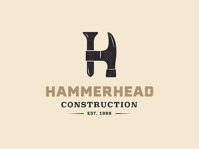 Hammerhead Logo construction hammerhead hammer logo branding color vector design illustration illustrator