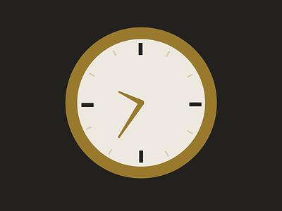 time 4/4 clock time color vector design illustration illustrator