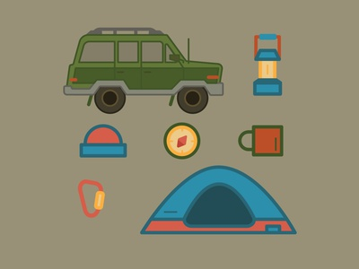Adventure Pack 2 america outdoor camping badge adventure color vector design illustration illustrator