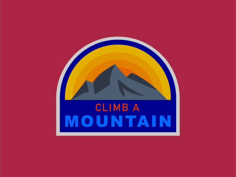 Nature Badge climb adventure nature badge mountain illustrator illustration