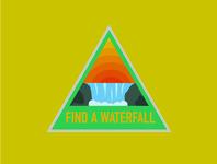 Waterfall Nature Badges
