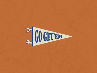 Go Get motivation inspiration flag pennant vector illustrator illustration