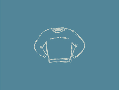 Sweater Weather texture sweater sketch vector design illustrator illustration
