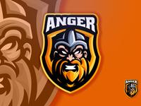 Elements Viking Head Angry Sport Esport Logo