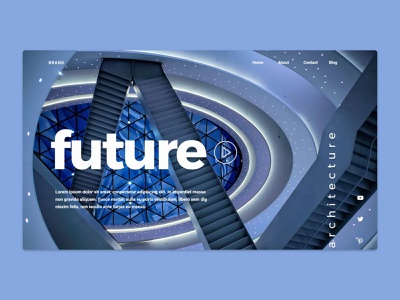 About the future landing page graphic design header freelance custom editable branding creativity template design