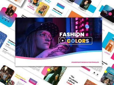 Fashion Colors free PPT Presentation Slides design custom graphic design template editable google slides ppt 自由 freebie presentation design powerpoint template download free
