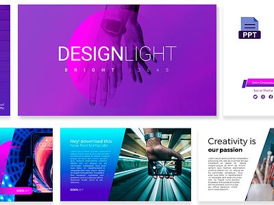 Design Light Free PowerPoint Presentation bright-ideas gradient-style presentation free-download ppt-slides light design freebie power-point-template free