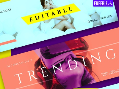 Free Banner Templates for Social Media 自由 psd editable freebie cover facebook social media template banner download free