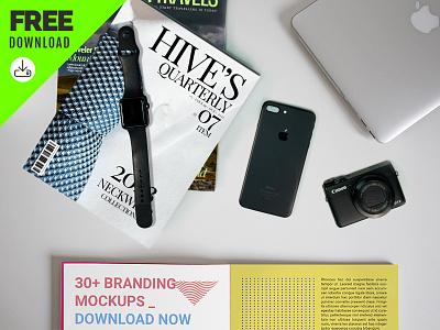 Free Branding Identity Stationery Mockups   High Quality stationery design 小样 identity mockup branding editable psd download template freebie free