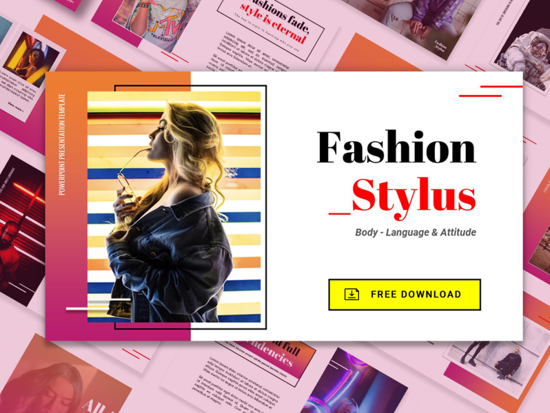 Free Powerpoint Template Fashion Style By Graphics Traffic On Dribbble
