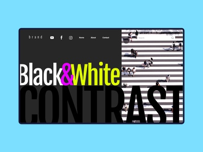 CONTRAST Web design — Landing Page / header design creativity branding freebies 网页设计 graphic design contrast design header webdesign website
