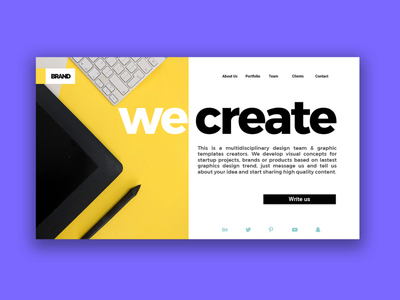 We create cool graphics for projects. brand business startup custom projects ux ui code header website web creativity template branding download design freebie