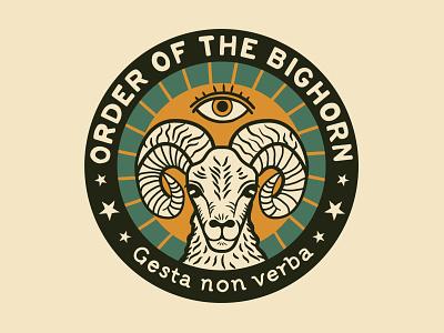 Order of the Bighorn vector logodesign badge bighorn logo branding illustration graphic