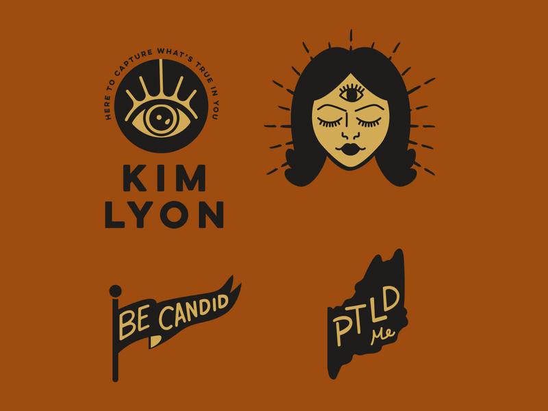 Kim Lyon Photography eye eyelogo thirdyeye photography logo logodesign branding logo vector design illustration graphic