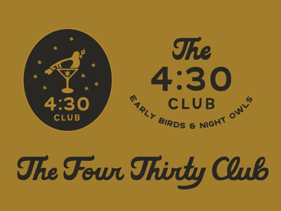 The Four Thirty Club logodesign branding logo graphic