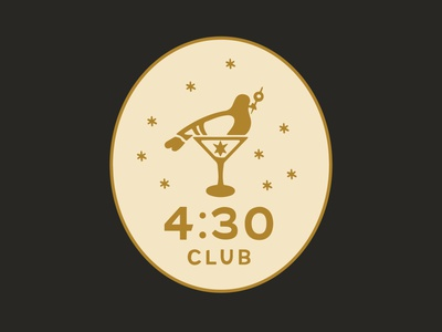 Four Thirty Club Part 2 branding logo illustration graphic