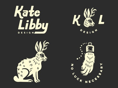 Jackalope Logo customtypography gritty black and white branding vector logo design illustration graphic
