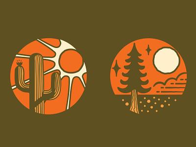 Iconic Arizona cactus illustration desert illustration logodesign branding vector logo design illustration graphic