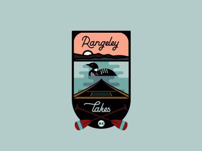 Maine Badge canoe sun lake badge maine loon