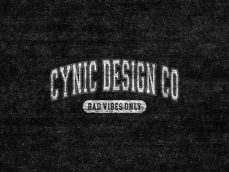 Cynic Bad Vibes Only logodesign collegiate college static distressed design vector screenprint good vibes bad vibes washington pnw logo typography