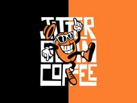 Jitter Bean Coffee Lockup 2 vector design typography