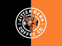 Jitter Bean Coffee Lockup 3 vector design typography