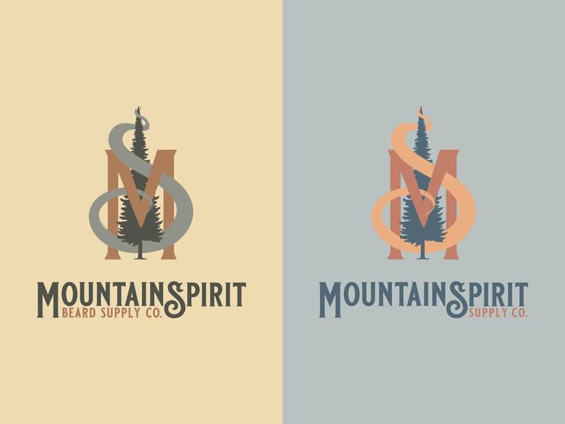 Mountain Spirit Logos design branding vector washington pnw logo illustration typography