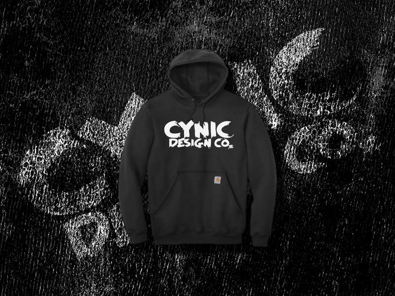 Cynic Design Co. Brush Logo screenprint bellingham branding vector washington pnw logo illustration typography
