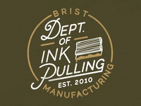 Brist Mfg. Department of Ink Pulling