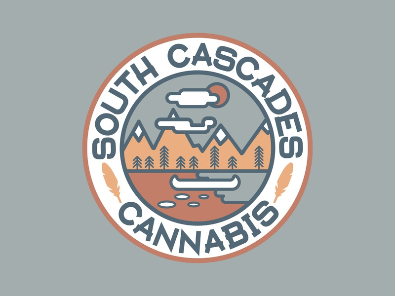 South Cascades Cannabis logo 1 mountain cascades cannabis icon vector branding logo washington pnw bellingham typography illustration