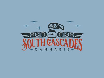 South Cascades Cannabis logo 4 cannabis icon vector branding logo washington pnw bellingham typography illustration
