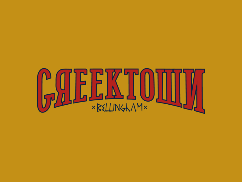 Greektown Logo food truck typography word mark