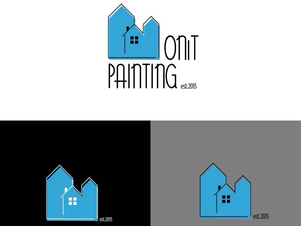 Painting logo simple clean cool web icon ux ui brand logo vector design branding modern