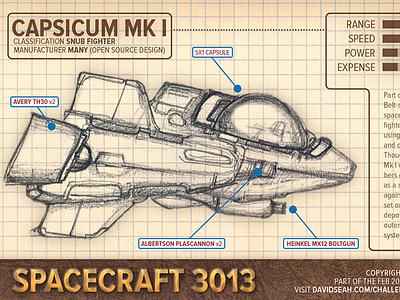 Day 14: Spaceship Card