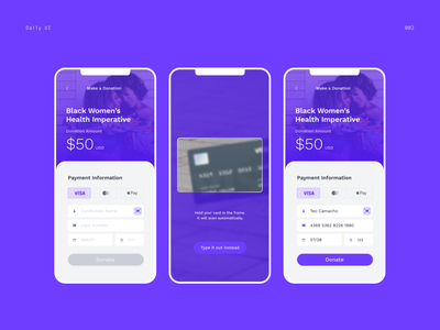Daily UI 001 — Credit Card Checkout ui design 100dayproject dailyui