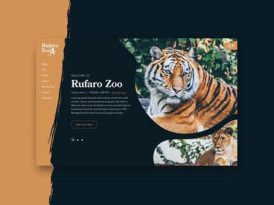 Rufaro Zoo - Orange tiger uidesign uiux ui animals zoo
