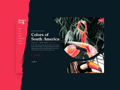 Rufaro Zoo - Pink uxdesign southamerica flamingo zoo uiux ui