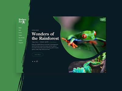 Rufaro Zoo - Green snake uxui zoo frog rainforest uiux ui
